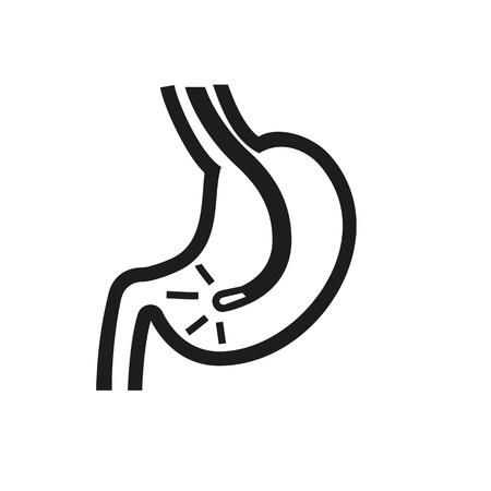 Esophagogastric duodenoscopy icon Illustration