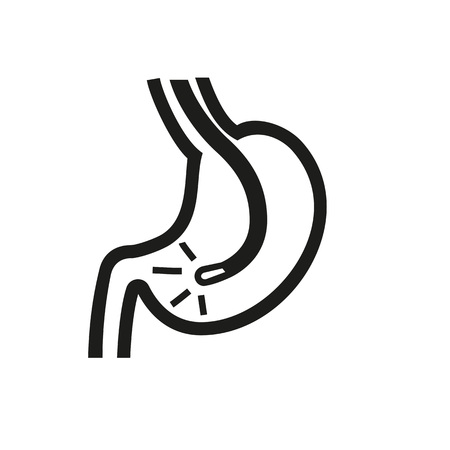 Esophagogastric duodenoscopy icon Illustration
