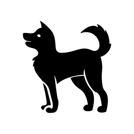 Vriendelijke hond pictogram Stockfoto - 89581773