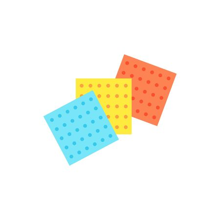 Multicolored cleaning cloths icon