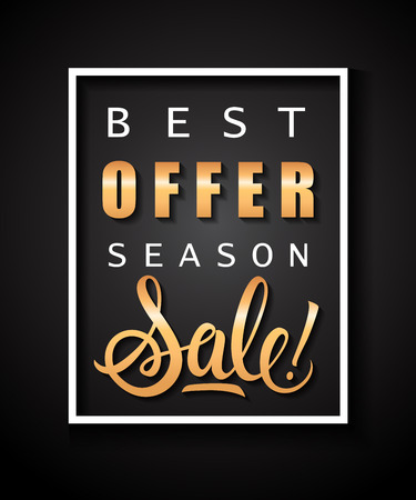 Best Offer Season, Sale Lettering Reklamní fotografie - 90521909