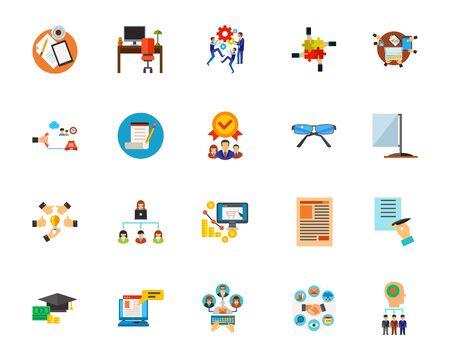 Workflow icon set Illustration