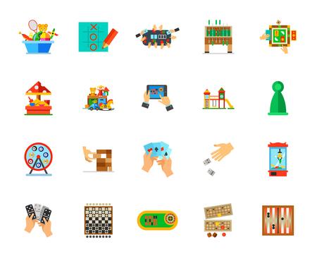Indoor games icon set Illustration