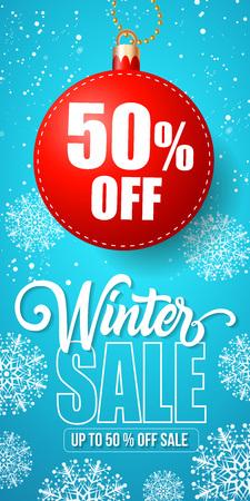 Winter Sale Lettering  イラスト・ベクター素材