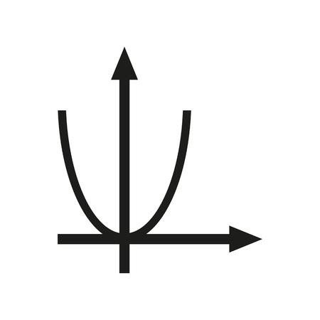 Parabola for algebra classroom icon