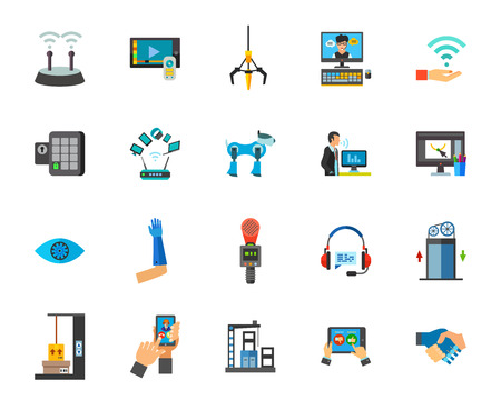 Internet of things icon set. Can be used for topics like technology, innovation, robotics, equipment, industry