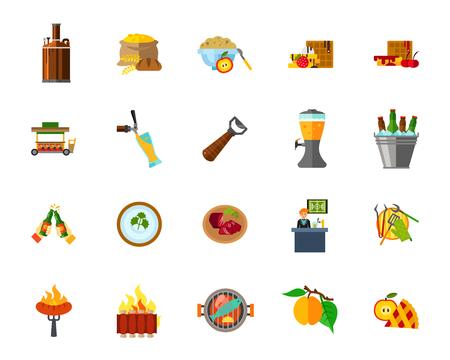 Food icon set Vettoriali