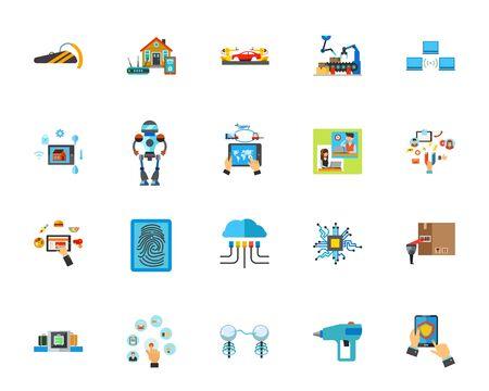 Innovative technology icon set Illusztráció