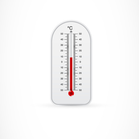 Outdoor thermometer showing 8 centigrade Ilustrace