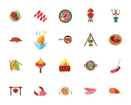 Food icon set Ilustracja