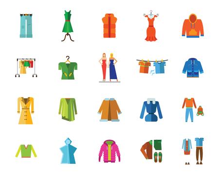 Clothes icon set.