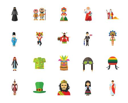 Culture icon set