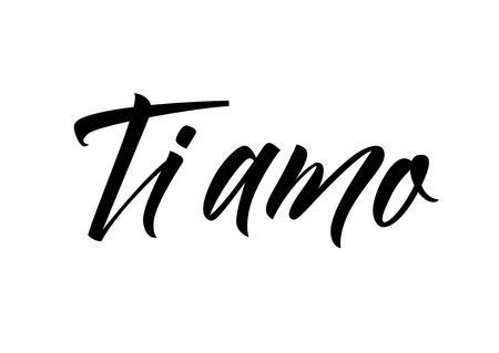 Ti Amo Lettering design. Illusztráció