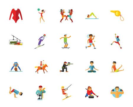 Sport icon set vector illustration.