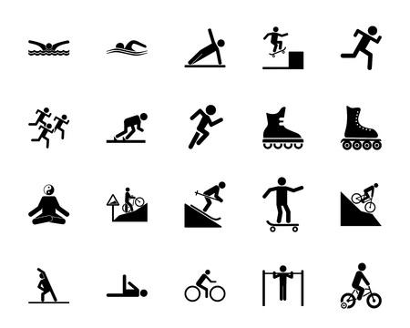 Sport icon set illustration on white backgroud. Vettoriali