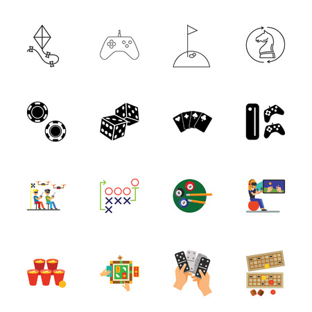 Games icon set Illustration