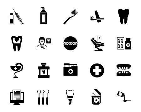Stomatology icon set 向量圖像