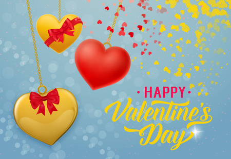 Happy Valentines Day Inscription, Pendant