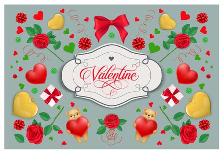 Valentine Vintage Lettering in Frame