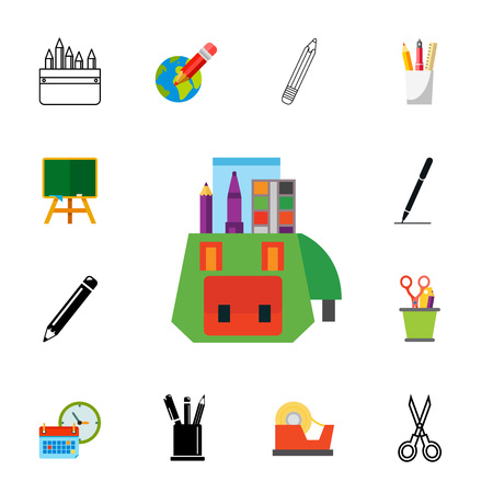 Stationary icon set