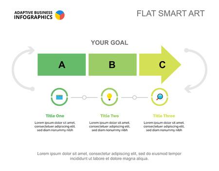 Three Steps Startup Slide Template