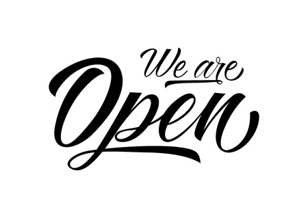 We are Open Lettering Vector illustration.