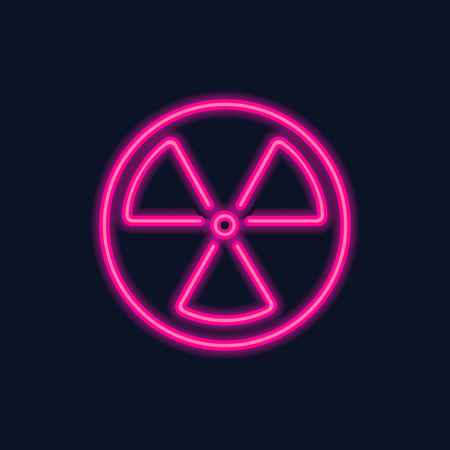 Radiation hazard symbol icon design Illustration