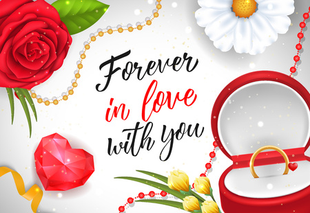 Forever in Love with You Lettering Illustration
