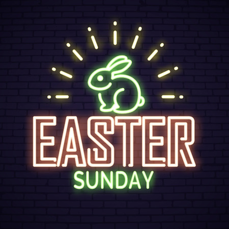 Happy Easter neon lettering