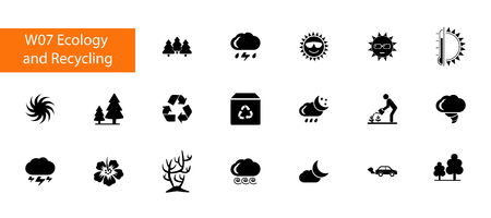 Environment icon set vector illustration Ilustrace
