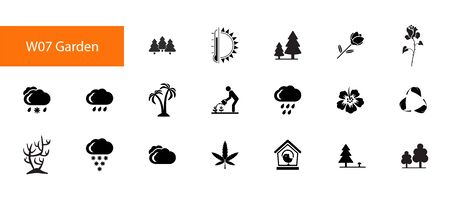 Garden icon set vector illustration Stock Illustratie