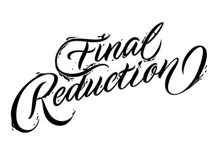 Final reduction lettering vector illustration Illustration
