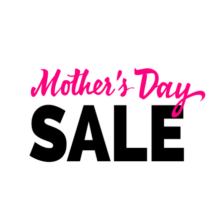 Mothers day sale lettering. Shopping inscription with fat font. Handwritten text, calligraphy. Can be used for greeting cards, posters and leaflets.