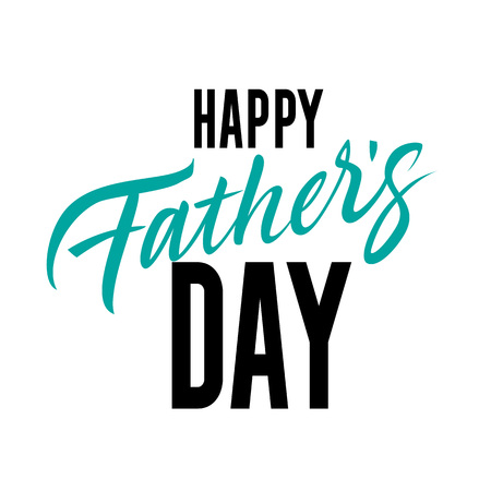 Happy Father Day Inscription. Fathers Day design element. Stock Illustratie
