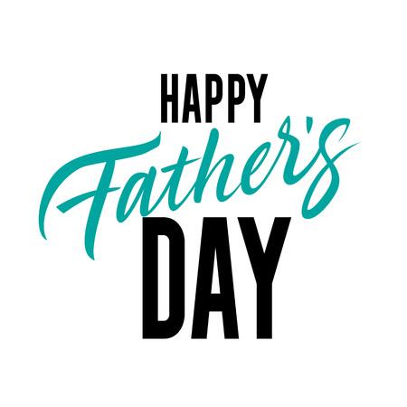Happy Father Day Inscription. Fathers Day design element. Vettoriali
