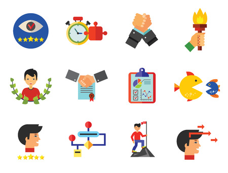 Business Planning Icon Set illustration on white background. 矢量图像