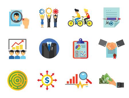 Business Icon Set illustration on white background.