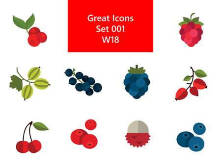 Berry Icon Set Illustration