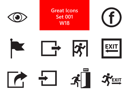 Exit Simple Icons Set