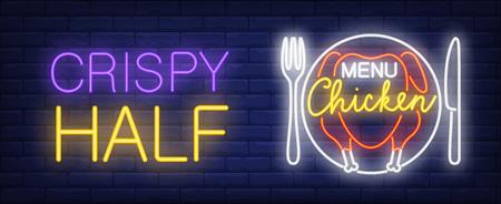 Chicken menu neon sign