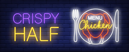 Chicken menu neon sign