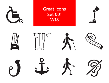 Disabled Simple Icons Set