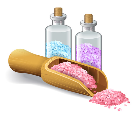 Realistic vector illustration of spa salts