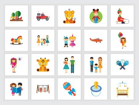 Kids icon set. Can be used for topics like children, childhood, leisure, care