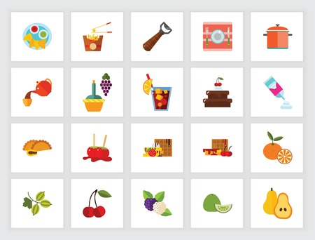 Meals icon set. Can be used for topics like snack, dessert, fruit, food