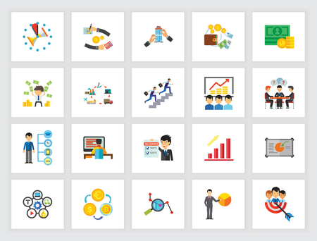 Career icon set. Can be used for topics like effectiveness, management, business, job