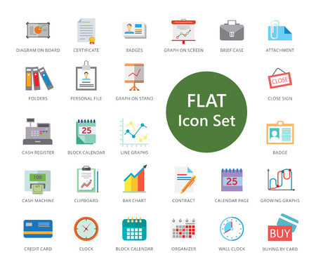 Set of 33 vector icons representing business concept
