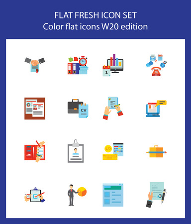 Documentation icon set. Can be used for topics like information, contract, report, paperwork