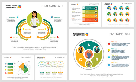 Colorful research and planning infographic charts set. Business design elements for presentation slide templates. Consulting concept can be used for annual report, flyer layout and banner design.