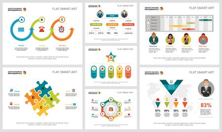 Buntes Infografik-Diagramm für Analyse- oder Beratungskonzepte. Business-Design-Elemente für Präsentationsfolienvorlagen. Kann für Finanzberichte, Workflow-Layout und Broschürendesign verwendet werden.